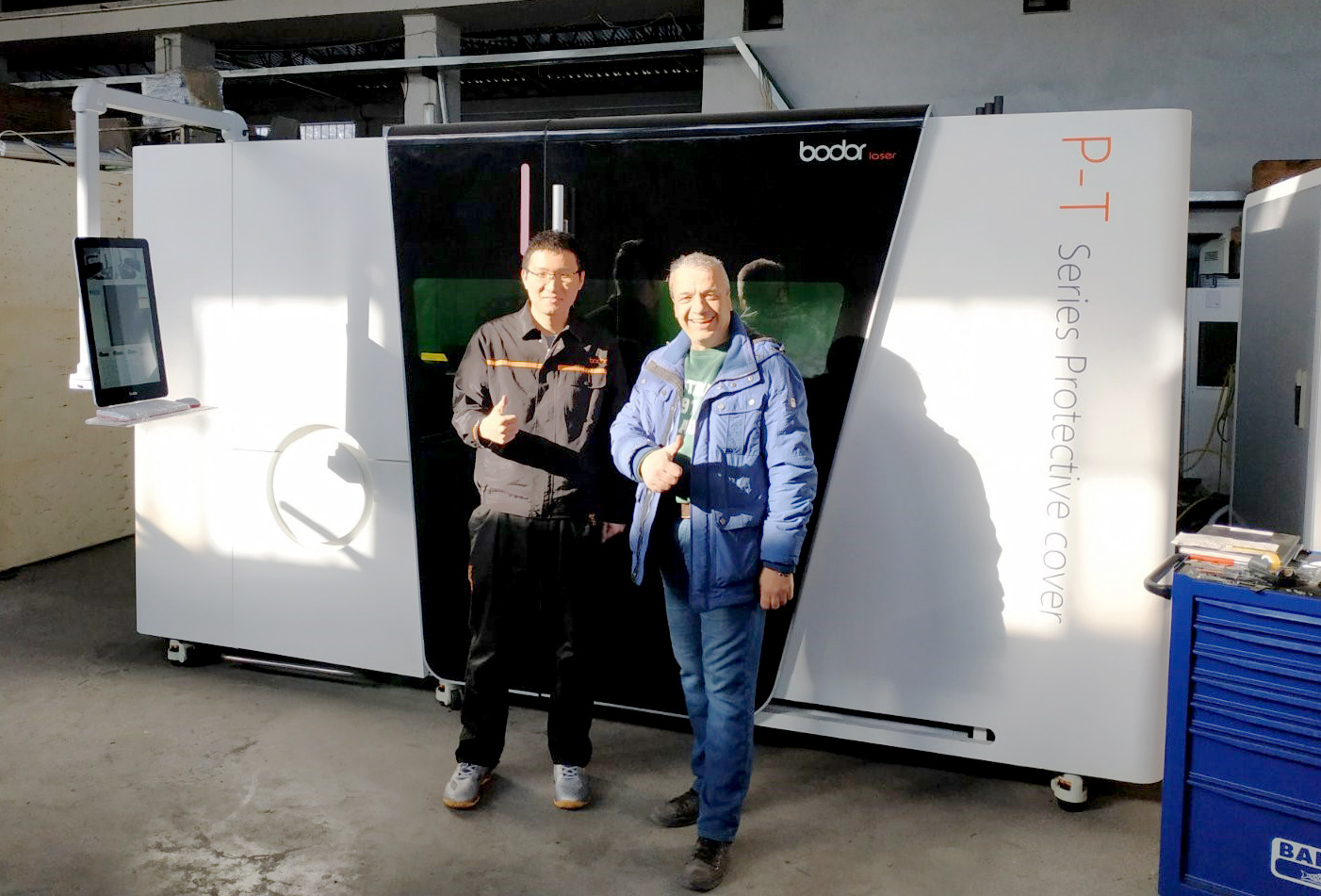 Εγκατάσταση μηχανήματος laser