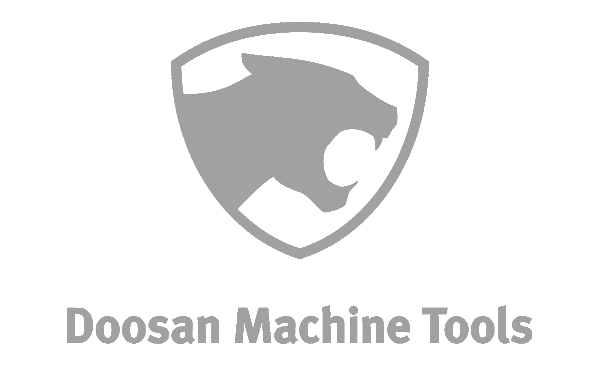 Doosan machine tools logo grey partner